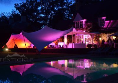 Exclusive garden party with pool