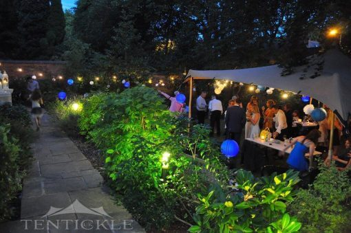 Garden party stretch tent