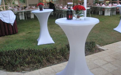 Poseur Tables in White