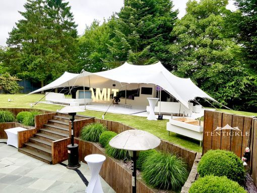 Stretch tent garden party