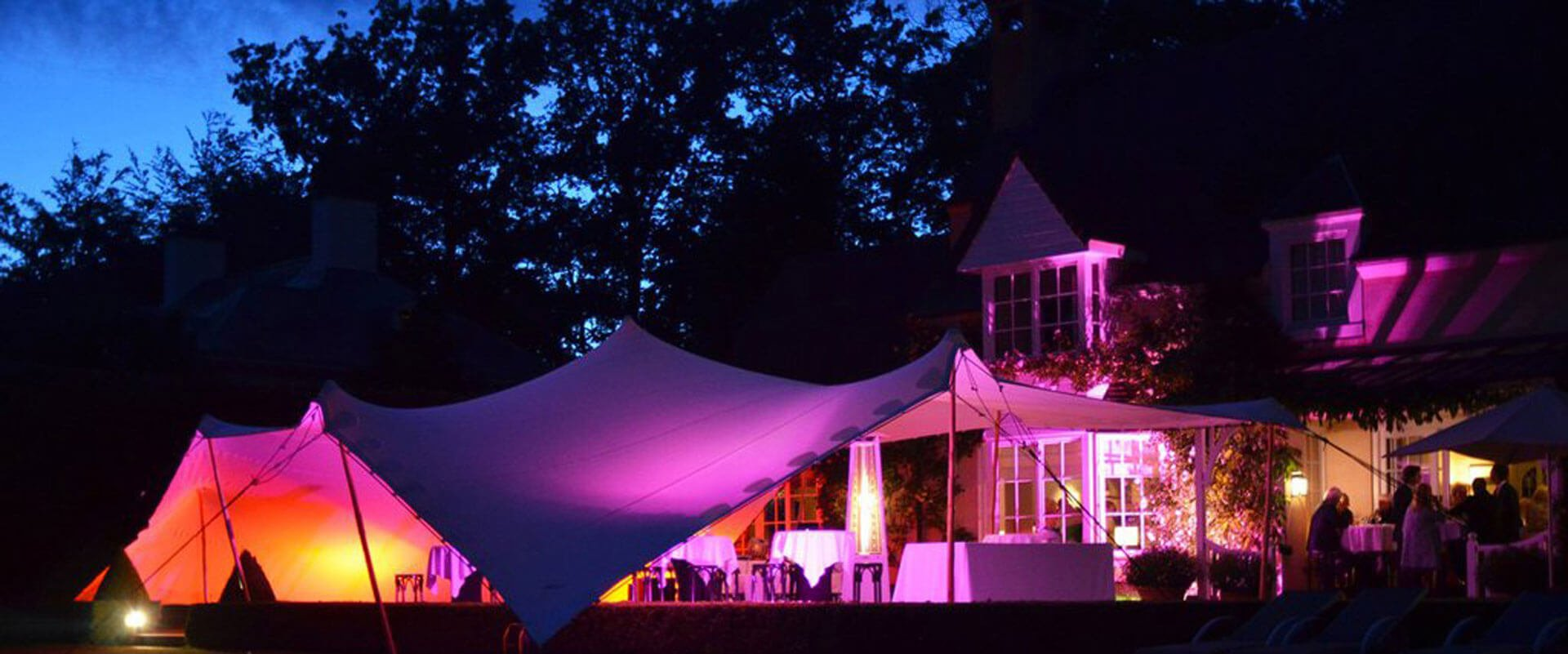 Stretch Tent Marquee covering Wedding Venue