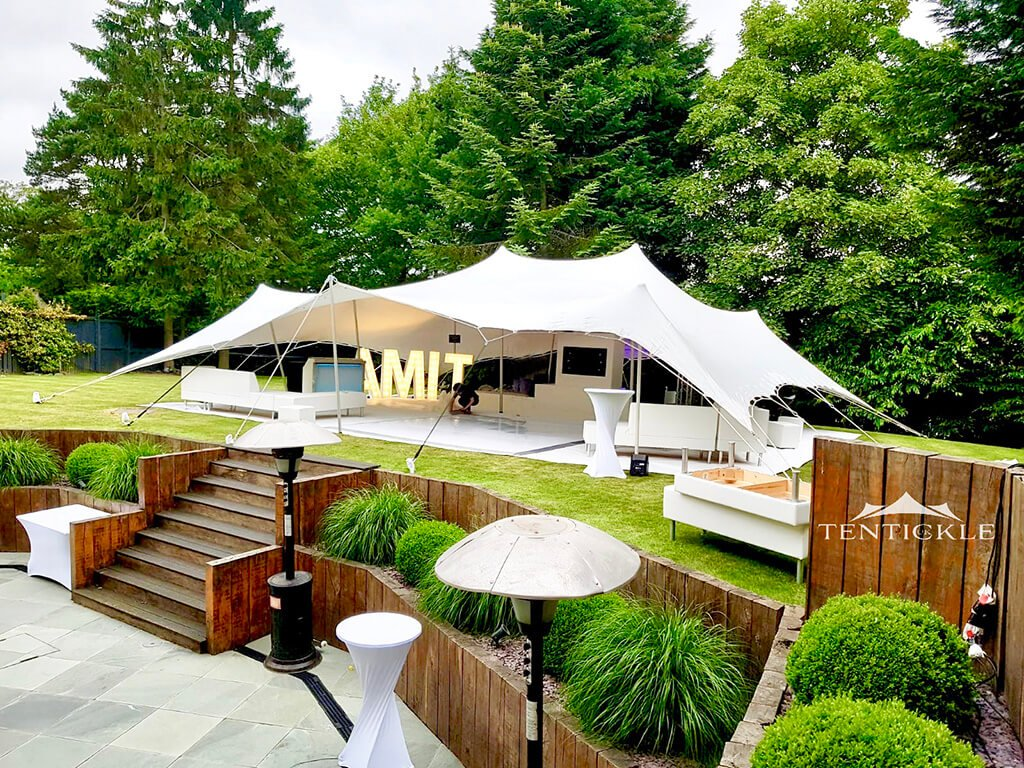 10x12m stretch tent garden party