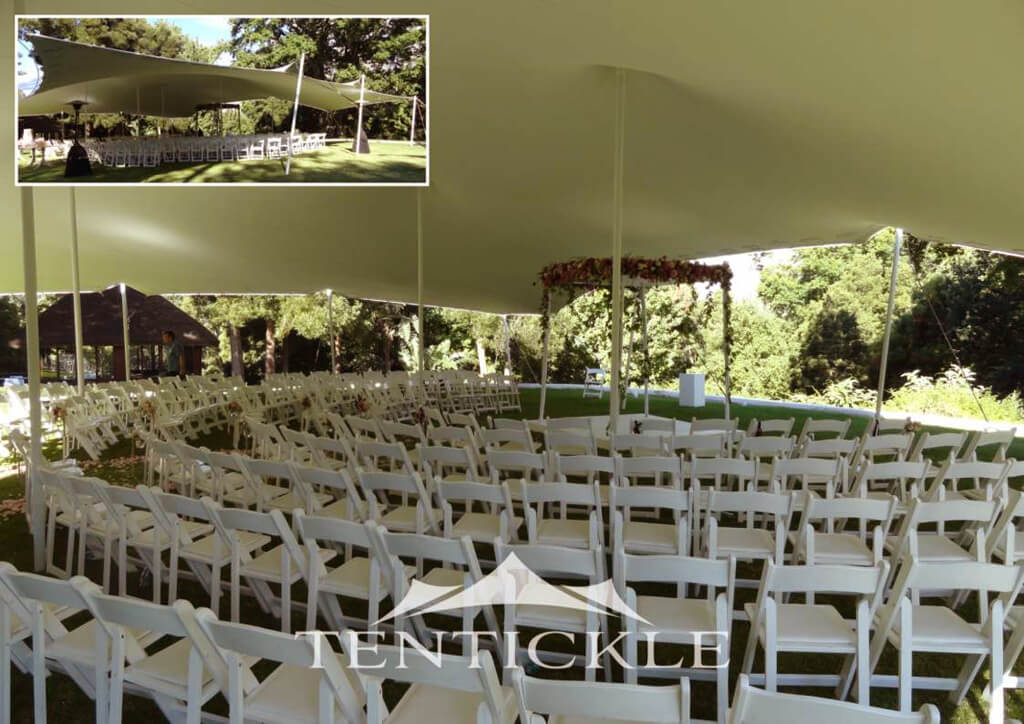 wedding ceremony cover stretch tent
